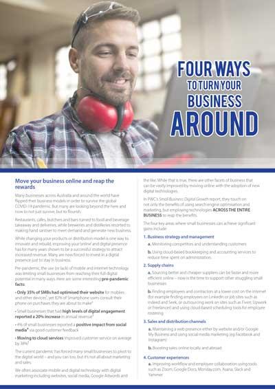 Four ways to turn business around