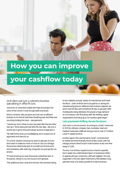 How you can improve your cashflow today