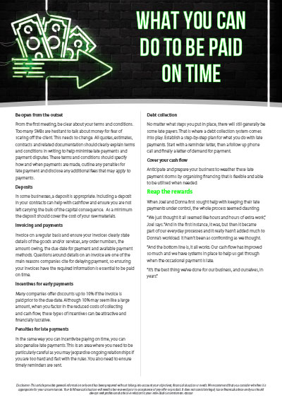 What you can do to be paid on time